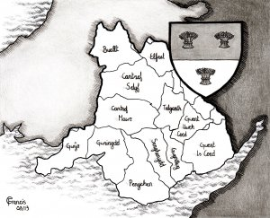 William's holdings in Wales map