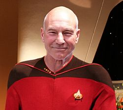 Captain Jean-Luc Picard of the starship Enterprise