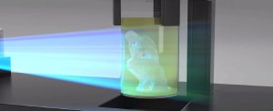 Replicator that builds objects with light
