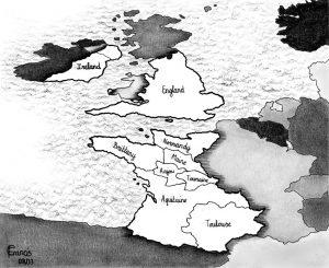 Map of Angevin lands